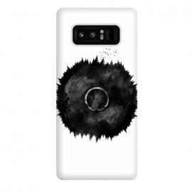 Galaxy Note 8  Forest Music  by Rui Faria (forest,music,trees,black and white,ink,paint,nature,abstract,vinyl,vintage)