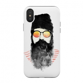 iPhone Xs / X  Hipster Chillin by  (hipster,beard,sunglasses,summer,spring,ink,paint,man,fashion)