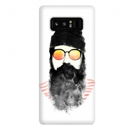 Galaxy Note 8  Hipster Chillin by Rui Faria (hipster,beard,sunglasses,summer,spring,ink,paint,man,fashion)