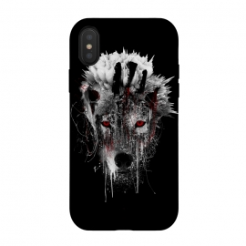 iPhone Xs / X  Wolf BW by  (Wolf,wilanimals,animals,art,Rizapeker)
