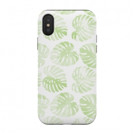 iPhone Xs / X  monsteras by  (pattern,monstera,ink,paint,monstera deliciosa,tropical,summer)
