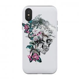 iPhone Xs / X  Momento Mori Rev V by  (skull,floral,snake,tattoo,design,surreal,art,rizapeker)