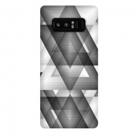 Galaxy Note 8  Trianglism by Rui Faria (geometric,black and white,shapes,pattern,triangle)