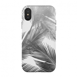 iPhone Xs / X  Palms BW by  (palms,tropical,tropics,nature,ink,paint,black and white,summer)