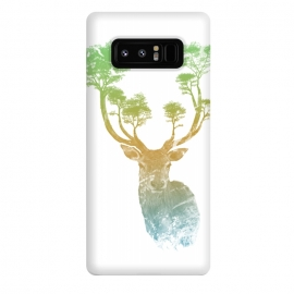 Galaxy Note 8  Stag by Rui Faria (stag,deer,paint,ink,watercolor,trees,forest,abstract)