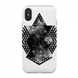 iPhone Xs / X  Space travel by  (space,stars,abstract,black and white,sky)