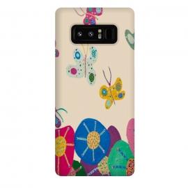 Galaxy Note 8  Butterflies Garden by