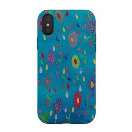 iPhone Xs / X  Falling flowers by  (fun modern)
