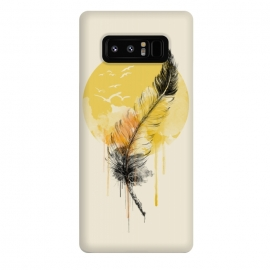 Galaxy Note 8  Melted Hope by  (hope ,feather ,watercolor ,birds ,flying birds ,nature ,illustration )