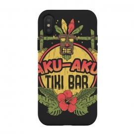 iPhone Xs / X  Aku Aku - Tiki Bar by  (crash,crash bandicoot,bar,tiki,aku aku,games,90's,playstation,floral,nature,lettering,phrase)