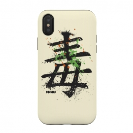 "iPhone Xs / X  Hieroglyph ""Poison"" by Sitchko Igor (Poison,Hieroglyph,type,characters,word,china,japan,splash,text,symbol)"