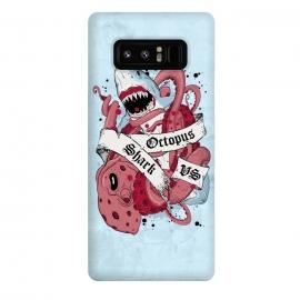 Galaxy Note 8  Shark vs Octopus by  (Shark,Octopus,vs,versus,fish,ocean,sea,fight,battle,deep,underwater)