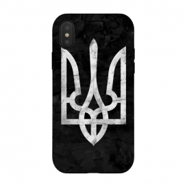 iPhone Xs / X  Ukraine Black Grunge by Sitchko Igor (Ukraine,trident,black,grunge,UA,ukrainian,symbol,nation,national,freedom,volia,patriot,human,kyiv,kiev,ethno,Україна,герб,тризуб,Dorn,Дорн,дорна,симбол,воля,свобода)