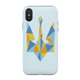 iPhone Xs / X  Ukraine Geometry by Sitchko Igor (Ukraine,trident,UA,triangle,triangles,geometry,minimal,minimalism,nation,native,national,volia,svoboda,modern,urban,patriot,symbol,kyiv,kiev,Україна,герб,тризуб,українське)