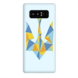 Galaxy Note 8  Ukraine Geometry by  (Ukraine,trident,UA,triangle,triangles,geometry,minimal,minimalism,nation,native,national,volia,svoboda,modern,urban,patriot,symbol,kyiv,kiev,Україна,герб,тризуб,українське)