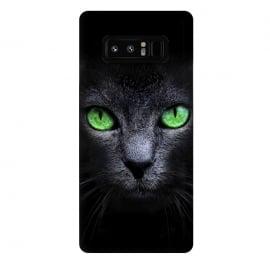 Galaxy Note 8  Black Cat by  (Cat,Black,Dark,Green,Eyes,wild,glass,meow,look)