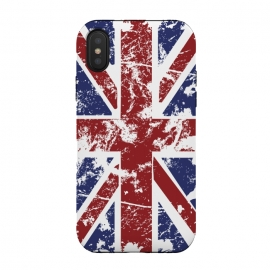 iPhone Xs / X  Grunge UK Flag  by  (Grunge,UK,United,Kingdom,Flag,Colors,Nation,National,Great,Britan)