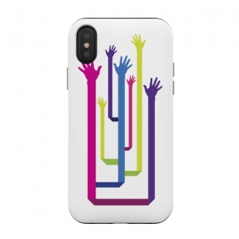 iPhone Xs / X  Hands Tree by  (Hands,Vector,Tree,Colorful,Free,Freedom)