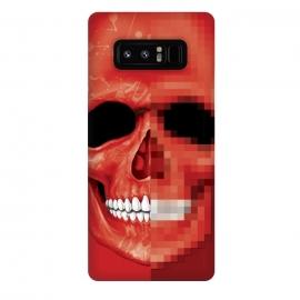 Galaxy Note 8  Red Skull by  (Pixel,8 bit,skull,sketeton,bones,red)