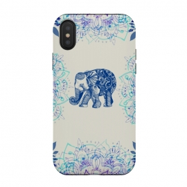 iPhone Xs / X  Pretty Little Elephant  by  (elephant, Floral,Flowers,mandala,nature,boho,pretty)