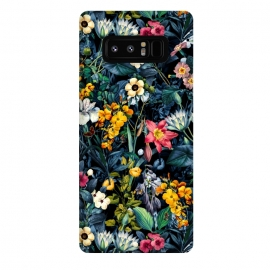 Galaxy Note 8  EXOTIC GARDEN by Burcu Korkmazyurek (botanical,nature,floral,flowers,garden,jungle,tropical,pattern,leaf,flora,vintage,retro,night,exotic)