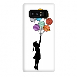 Galaxy Note 8  Planets Balloons by Coffee Man (universe,balloons,kid,kids,children,planets,girl,fun,funny,bansky,stars,urbarn)