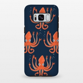 Galaxy S8 plus  Signals Octopus  by  (octopus,signals,fun,funny,humor,summer,vacation,beach,sea,marine,animals,spring break,cute,adorable)