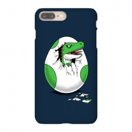 iPhone 8/7 plus  Dinosaur egg by Coffee Man (dinosaur, dinosaurs, retro, gamer,egg,geek,nerd,t rex,kid, kids, children)