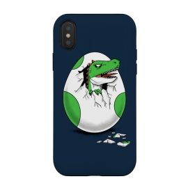iPhone Xs / X  Dinosaur egg by  (dinosaur, dinosaurs, retro, gamer,egg,geek,nerd,t rex,kid, kids, children)