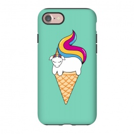 iPhone 8/7  Uni-cone green by Coffee Man (unicorne,ice cream,ponny,horse, animals, pet, kid, kids, children,fun, funny,magic,children,cute,adorable)