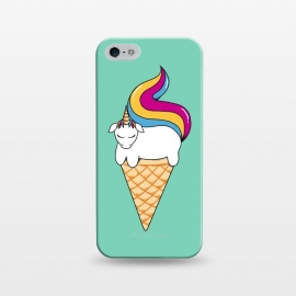iPhone 5/5E/5s  Uni-cone green by Coffee Man (unicorne,ice cream,ponny,horse, animals, pet, kid, kids, children,fun, funny,magic,children,cute,adorable)