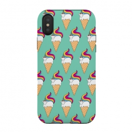 iPhone Xs / X  Uni-cone  by Coffee Man (unicorne,ice cream,kids,kid, children, funny,fun,humor,pets, horse,ponny,cute,adorable)