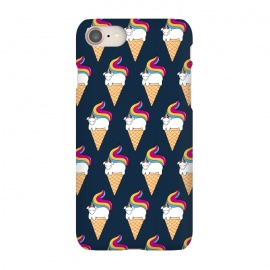iPhone 8/7  Uni-cone pattern-blue by Coffee Man