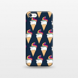 iPhone 5C  Uni-cone pattern-blue by Coffee Man
