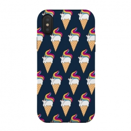 iPhone Xs / X  Uni-cone pattern-blue by Coffee Man