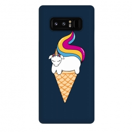 Galaxy Note 8  uni-cone blue by Coffee Man (unicorne, magic,ice cream, horse, ponny, pets, animals,cute, adorable,fun, funny, humor,kid, kids, children)