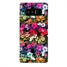 Galaxy Note 8  Multicolor Floral Pattern II by  (floral,pattern,botanical,tropical,nature,night,tropic,botanic,jungle,forest,garden,flora,flowers)