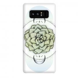 Galaxy Note 8  Sempervivum by  (Plant, succulent, moon, spiritual, sempervivum, magical, stars, universe, magic, night)