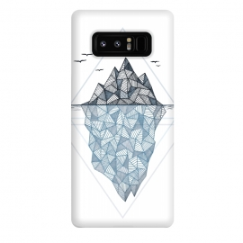 Galaxy Note 8  Iceberg by  (iceberg, ocean, ice, cold, winter, pattern, polygon)