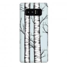 Galaxy Note 8  Wonderland by  (birch trees, forest, woods, wonderland, black, white)