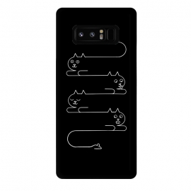 Galaxy Note 8  Cats Line by Coffee Man