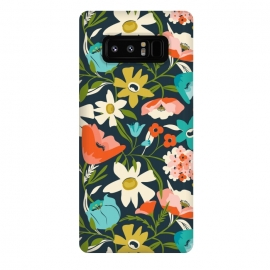 Galaxy Note 8  Nightshade by Heather Dutton (floral,floral pattern,floral print,flower,florals,flowers,nature,nature inspired,garden,leaves,plant,plants,blue,feminine,bloom,pattern)