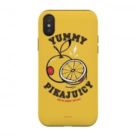 iPhone Xs / X  [ba dum tees] Pikajuicy by  (pikachu,anime,pokemon,orange,juice,fruit,animal)