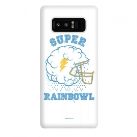 Galaxy Note 8  [ba dum tees] Super Rainbowl by  (football,helmet,cloud,rain,thunder,rainbow,sky)