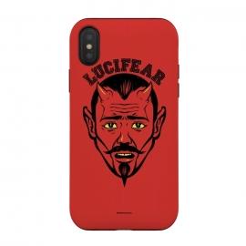 iPhone Xs / X  [ba dum tees] Lucifear by  (lucifer,fear,devil)