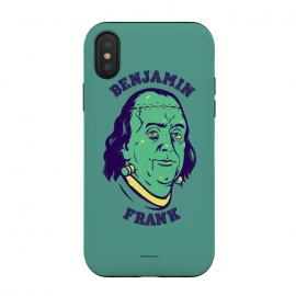iPhone Xs / X  [ba dum tees] Benjamin Frank by  (frankenstein,monster,dollar,money,zombie)