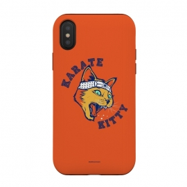 iPhone Xs / X  [ba dum tees] Karate Kitty by  (cat,kitty,kittie,karate,martial,ninja)
