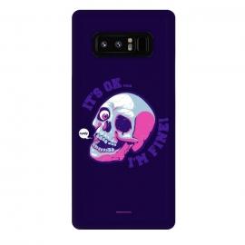 Galaxy Note 8  [ba dum tees] I'm Fine by  (skull,skelleton,humor)