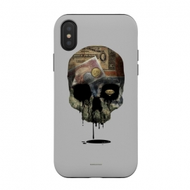 iPhone Xs / X  [Poektica] Society by  (skull, money,oil,coins)