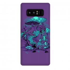 Galaxy Note 8  Cheshire Cat by  (alice,wonderland,tiger,cat,mushroom,night,fable)